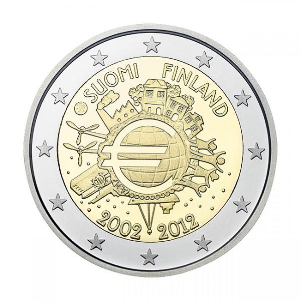 Suomi 2 euroa, Euro 10 vuotta (2012)