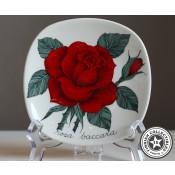 Arabia Esteri Tomula Botanica Rosa baccara, seinälautanen