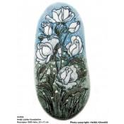 Arabia Heljä Liukko-Sundström soikea laatta 23 cm Ruusupuu (1990-luku)