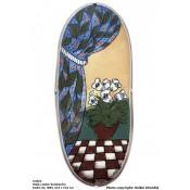 Arabia Heljä Liukko-Sundström soikea laatta 31,5 cm Kodin ilo (1993)