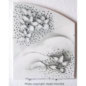 Arabia Heljä Liukko-Sundström laatta 29,5 cm Kukkia pohjoisesta (2004)