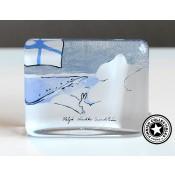 Arabia Heljä Liukko-Sundström lasikortti 7,5 cm Suomen talvi (2003)