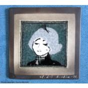 Arabia Heljä Liukko-Sundström seinälaatta 12x12 cm Pariisilaistyttö (1978, 1979)