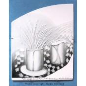 Arabia Heljä Liukko-Sundström laatta 29,5 cm Tuuli asetelma (2004)
