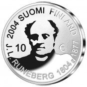Suomi juhlaraha 10 euroa, J. L. Runeberg KM#115 (2003)
