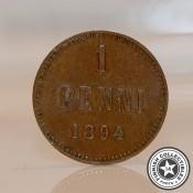 Suomi 1 penni (Aleksanteri III) (1881-1894)