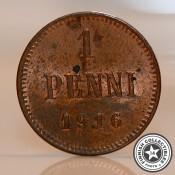 Suomi 1 penni (Nikolai II) (1895-1916)