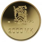 Suomi juhlaraha 2000 markkaa, 50 rauhan vuotta, kultaraha (1995)