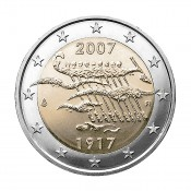 Suomi 2 euroa, Itsenäinen Suomi 90 vuotta (2007)