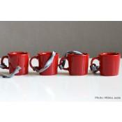 Iittala Teema joulukoriste minimukit 4-setti, punainen