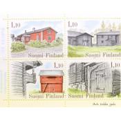 Postimerkki 1979 L849-L858 Suomalaisia talonpoikaisrakennuksia (vihko, merkit)