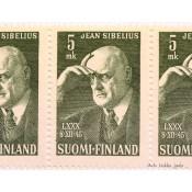 Postimerkki 5 mk Jean Sibelius 80 vuotta L306, 1945