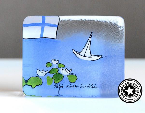 Arabia Heljä Liukko-Sundström lasikortti 7,5 cm Suomen kesä (2003)