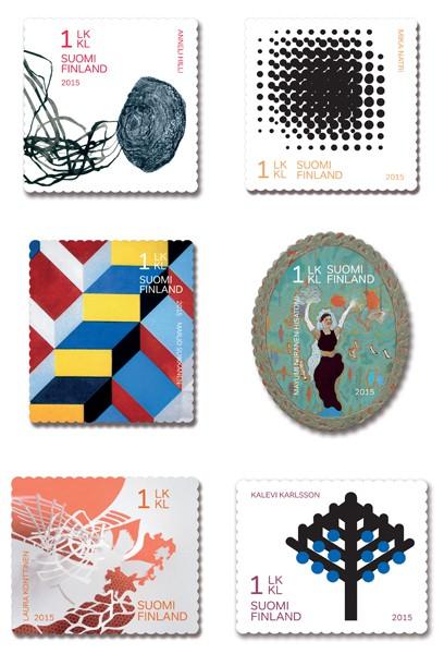 Postimerkki Suomen Taiteiljaseura 150 vuotta (19.1.2015)