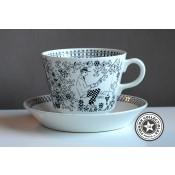 Arabia Emilia kahvikuppi ja tassi, suuri