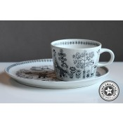 Arabia Emilia kahvikuppi ja tassi, pieni