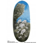 Arabia Heljä Liukko-Sundström soikea laatta 31,5 cm Avaran taivaan alla (2000)