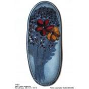 Arabia Heljä Liukko-Sundström soikea laatta 31,5 cm Kukkakimppu (1981)