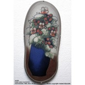 Arabia Heljä Liukko-Sundström soikea laatta 39,5 cm Omenankukat (1986)
