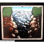 Arabia Heljä Liukko-Sundström seinälaatta 25x20 cm Koski (1986)