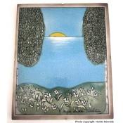 Arabia Heljä Liukko-Sundström seinälaatta 21x25,5 cm Kevät (1990)