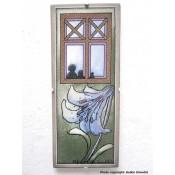 Arabia Heljä Liukko-Sundström seinälaatta 25,5x10,5 cm Fantasy: Perhe odottaa kotona (1993)