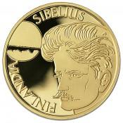 Suomi juhlaraha 1000 markkaa, Jean Sibelius, kultaraha (1999)