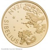 Suomi juhlaraha 100 euroa, Jean Sibelius, kultaraha (2015)
