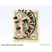 Postimerkki 1 markka 1889, vaakunamerkki
