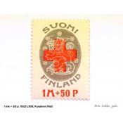 Postimerkki 1 mk + 50 p. Punainen Risti, 1922 L108