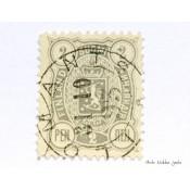 Postimerkki 2 penniä 1889, vaakunamerkki