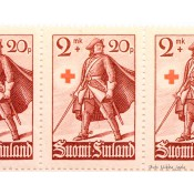 Postimerkki 2 mk + 20 p. Punainen Risti, 1940 L224