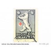 Postimerkki 4,75 mk + 45 p. Punainen Risti L258, 1942
