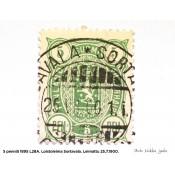 Postimerkki 5 penniä 1895 L28A, vaakunamerkki